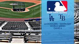 LA Dodgers - Tampa Bay. World Series Game 6