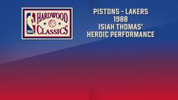 Pistons - Lakers 1988 Isiah Thomas' Heroic Performance. NBA Finals Game 6