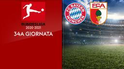 Bayern Monaco - Augsburg. 34a g.