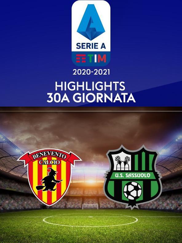 Highlights Serie A: Benevento - Sassuolo. 30a g.