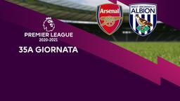 Arsenal - West Bromwich Albion. 35a g.