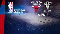 Chicago - Brooklyn 27/04/13. Playoff Gara 4