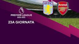 Aston Villa - Arsenal. 23a g.