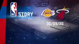 La Lakers - Miami 30/09/20. Finals Gara 1