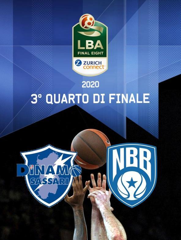 Sassari - Brindisi. Final Eight. 3° Quarto di finale