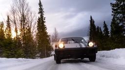 Una Porsche sotto zero