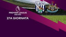West Bromwich Albion - Newcastle. 27a g.