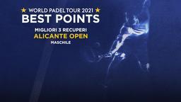 Migliori 3 recuperi Alicante Open Maschile