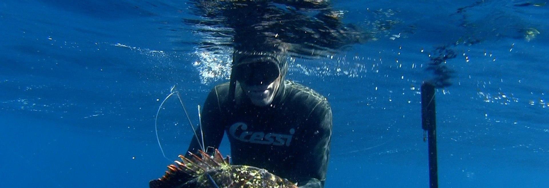 Pesca in apnea, amicizia e risate