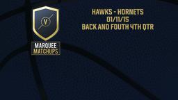 Hawks - Hornets 01/11/15: Back and fouth 4th qtr