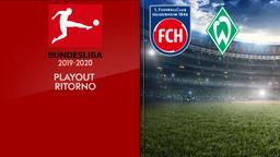 Heidenheim - Werder Brema. Playout Ritorno