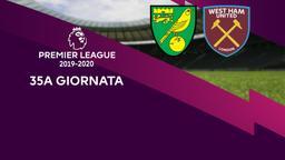 Norwich City - West Ham United. 35a g.