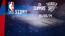 LA Clippers - Oklahoma City 15/05/14. Playoff Gara 6