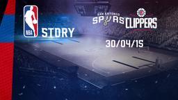 San Antonio - L.A. Clippers 30/04/15. Playoff Gara 6