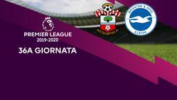Southampton - Brighton & Hove Albion. 36a g.