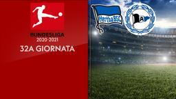 Hertha B. - Arminia Bielefeld. 32a g.