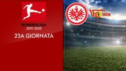 Eintracht F. - Union Berlino. 23a g.