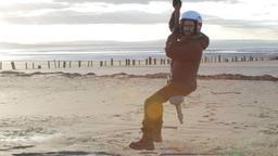 Skateboard in volo