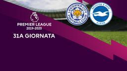 Leicester City - Brighton & Hove Albion. 31a g.