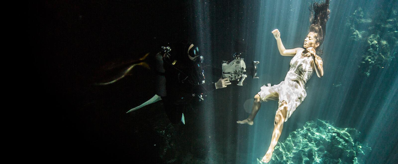 The underwater cave: Cenote