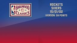 Rockets - Sixers 15/01/02 Iverson: 58 Points