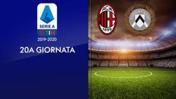 Milan - Udinese. 20a g.