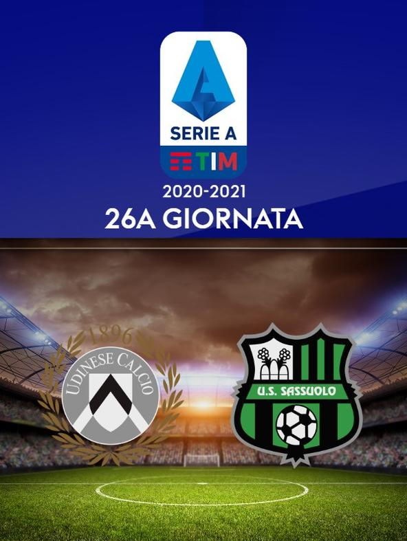Udinese - Sassuolo. 26a g.