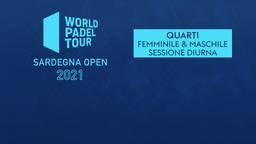 Sardegna Open: Quarti F/M Sessione diurna
