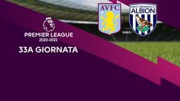 Aston Villa - West Bromwich Albion. 33a g.
