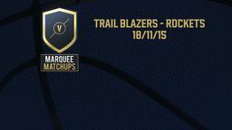Trail Blazers - Rockets 18/11/15