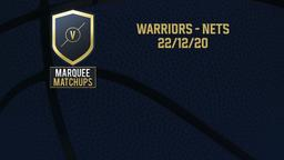 Warriors - Nets 22/12/20