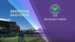 Berrettini - Baghdatis. 2° Turno