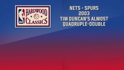 Nets - Spurs 2003 Tim Duncan's Almost Quadruple-Double. Game 6. NBA Finals