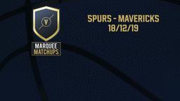 Spurs - Mavericks 18/12/19