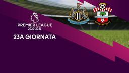 Newcastle - Southampton. 23a g.