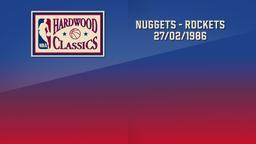 Nuggets - Rockets 27/02/1986