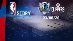 Dallas - LA Clippers 23/08/20. Playoffs Gara 4