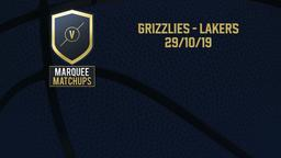 Grizzlies - Lakers 29/10/19