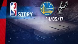 Golden State - San Antonio 14/05/17. Playoff. Western Conference Finals. Gara 1