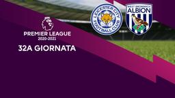 Leicester - West Bromwich Albion. 32a g.