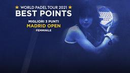Migliori 3 punti Madrid Open Femminile