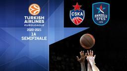 CSKA Mosca - Efes. 1a Semifinale